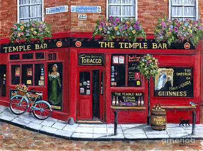 Wall Art - Painting - The Temple Bar by Marilyn Dunlap