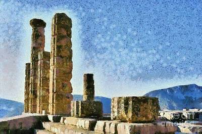 Painting - The Temple Of Apollo In Delphi II by George Atsametakis
