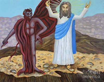 Painting - The Temptation Of Christ by Caroline Street