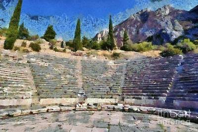Painting - The Theater In Delphi by George Atsametakis