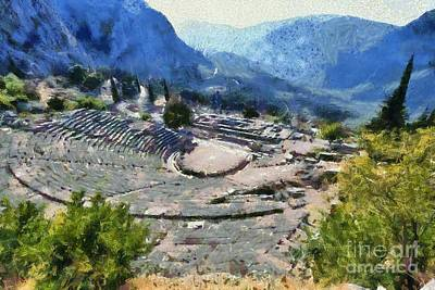 Painting - The Theater In Delphi II by George Atsametakis