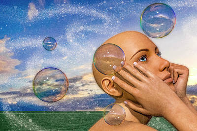 Surrealism Digital Art - The Timing of Thoughts by Betsy Knapp