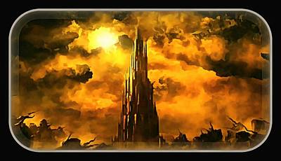 Digital Art - The Tower Of Cirith Ungol by Mario Carini