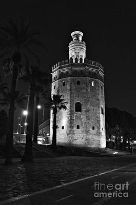 Photograph - The Tower Of Gold In Monochrome, Seville by Angelo DeVal