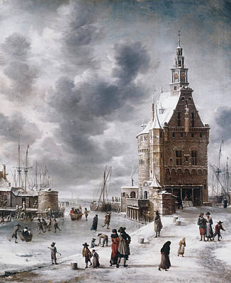 Painting - The Town Gate Of Hoorn By Jan Abrahamz by Superstock