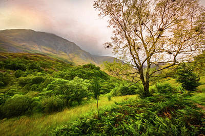 Photograph - The Trail To Ben Nevis Painting  by Debra and Dave Vanderlaan