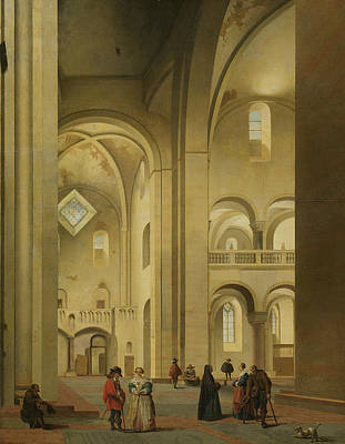 Painting - The Transept Of The St. Mary's Church In Utrecht, Seen From The Northeast by Pieter Jansz Saenredam