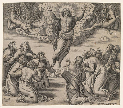 Drawing - The Transfiguration by Nicolas Beatrizet