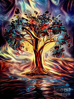 Fantasy Royalty-Free and Rights-Managed Images - The Tree of Dreams by John Edwards