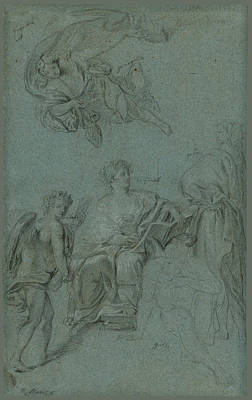 Drawing - The Triumph Of History Over Time by Anton Raphael Mengs