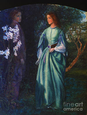 Painting - The Tryst by Arthur Hughes