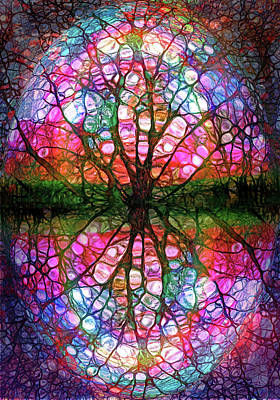 Digital Art - The Umbrella Tree by Tara Turner