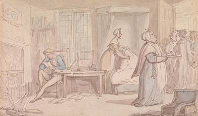 Drawing - The Undergraduate's Room by Thomas Rowlandson