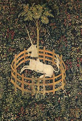 Painting - The Unicorn In Captivity by Vintage Art