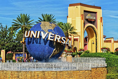 Photograph - The Universal Studios Globe In Orlando Florida by Jim Vallee