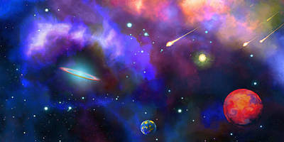 Digital Art - The Universe Is Waiting by Don White Artdreamer