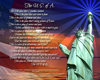 Digital Art - The U.s. Of A.  by Stanley Mathis
