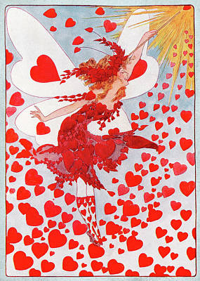 Fantasy Mixed Media - The Valentine Fairy by Amanda Lakey