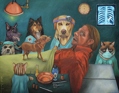 Painting - The Vet's Worst Nightmare by Leah Saulnier The Painting Maniac