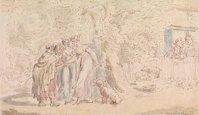 Drawing - The Vicar Of Wakefield - Fortune-telling by Thomas Rowlandson