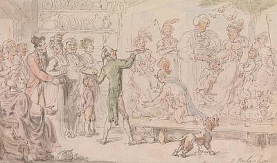 Drawing - The Vicar Of Wakefield - The Family Picture by Thomas Rowlandson