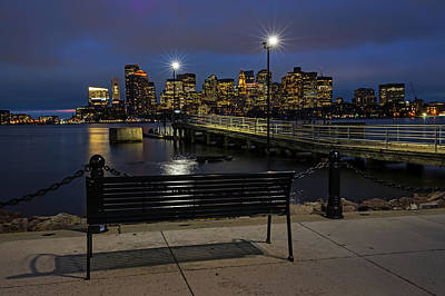 Photograph - The View From The East Boston Waterfront Boston Ma Skyline by Toby McGuire