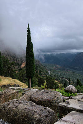 Photograph - The View In Delphi Greece by Lucinda Walter