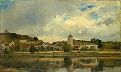 Painting - The Village Of La Celle-sous-moret by Eugene Lavieille