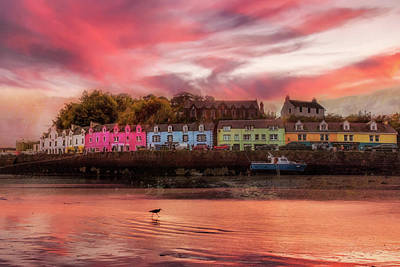Photograph - The Village Of Portree Scotland At Sunset by Debra and Dave Vanderlaan