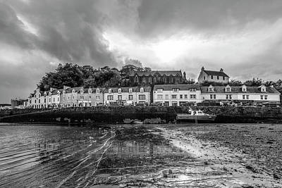 Photograph - The Village Of Portree Scotland In Black And White by Debra and Dave Vanderlaan