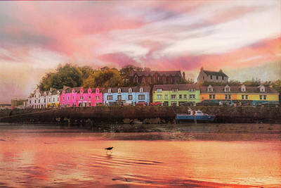 Photograph - The Village Of Portree Scotland In Soft Light by Debra and Dave Vanderlaan