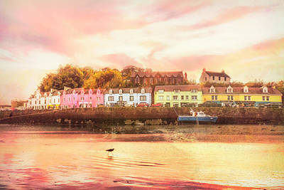 Photograph - The Village Of Portree Scotland Picture Postcard by Debra and Dave Vanderlaan