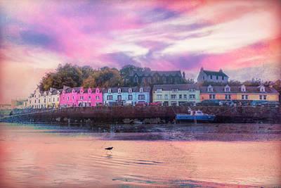 Photograph - The Village Of Portree Scotland Textured Dream by Debra and Dave Vanderlaan