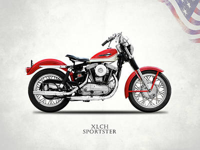 Harley Wall Art - Photograph - The Vintage Sportster Motorcycle by Mark Rogan