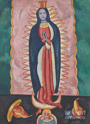 Virgin Guadalupe Wall Art - Painting - The Virgin Of Guadalupe, Circa 1918 To 19 by Marsden Hartley