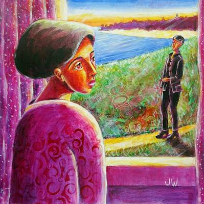 Painting - The Visitor by June Walker