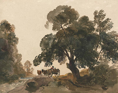 Drawing - The Wagon by Peter De Wint