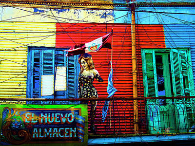 Photograph - The Warehouse, La Boca, Buenos Aires by Kurt Van Wagner
