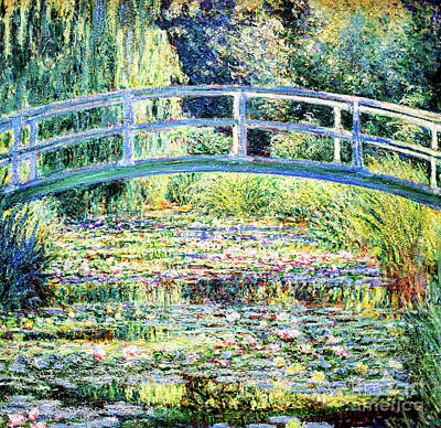 The Water Lily Pond By Monet Art Print