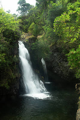 Photograph - The Waterfall At Kaumahina Wayside by Marie Leslie
