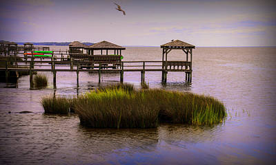 Photograph - The Waterfront At Duck  by JohnHarding