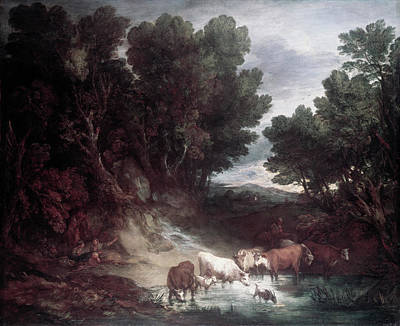 Painting - The Watering Place By Thomas by Superstock