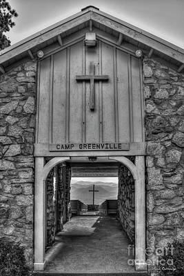 Photograph - The Waymaker B W Pretty Place Chapel Camp Greenville South Caroline Art by Reid Callaway