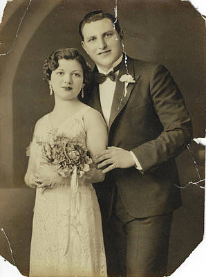Photograph - The Wedding - Before Restoration by Susan Molnar