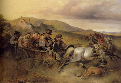 Painting - The Wedding Trip  by Carl Schindler
