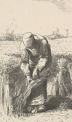 Relief - The Wheat Gatherer by Jean-Francois Millet