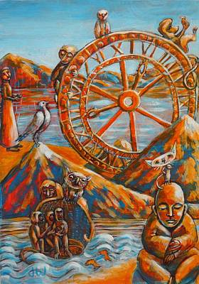 Painting - The Wheel Of Life by June Walker
