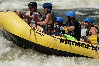 Photograph - The Whitewater Rafters by Thomas Vasas