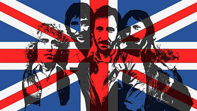 Music Mixed Media - The Who Union Jack by Dan Sproul
