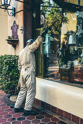 Photograph - The Window Washer by Brett Nelson
